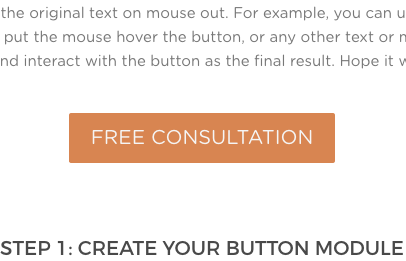 How to Change Divi Button Text on Hover With Simple JQuery