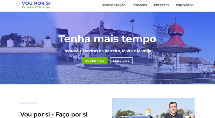 Horizzons Web Design delivered new website to local concierge company Vou Por Si